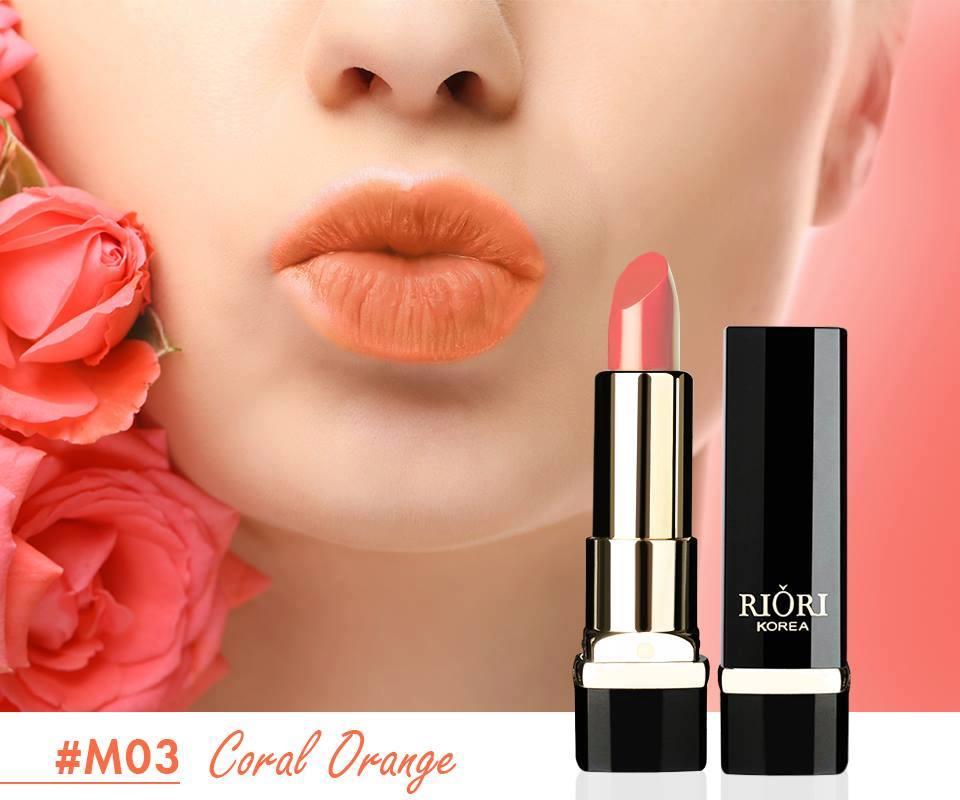 #M03: Son lì màu cam đất (Coral Orange)