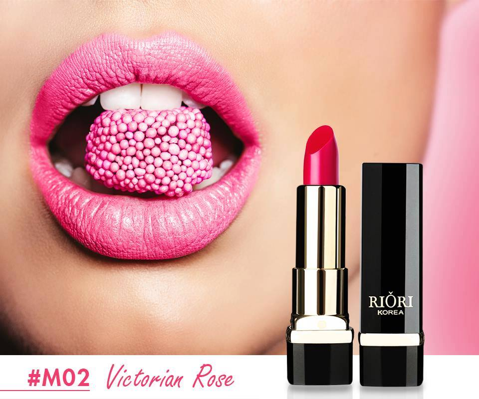 #M02: Son lì màu hồng cánh sen (Victorian Rose)