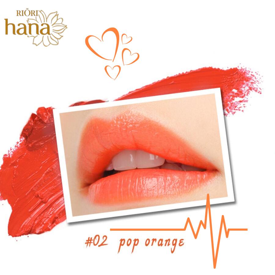 #M02 - Pop Orange: Son môi màu đỏ cam