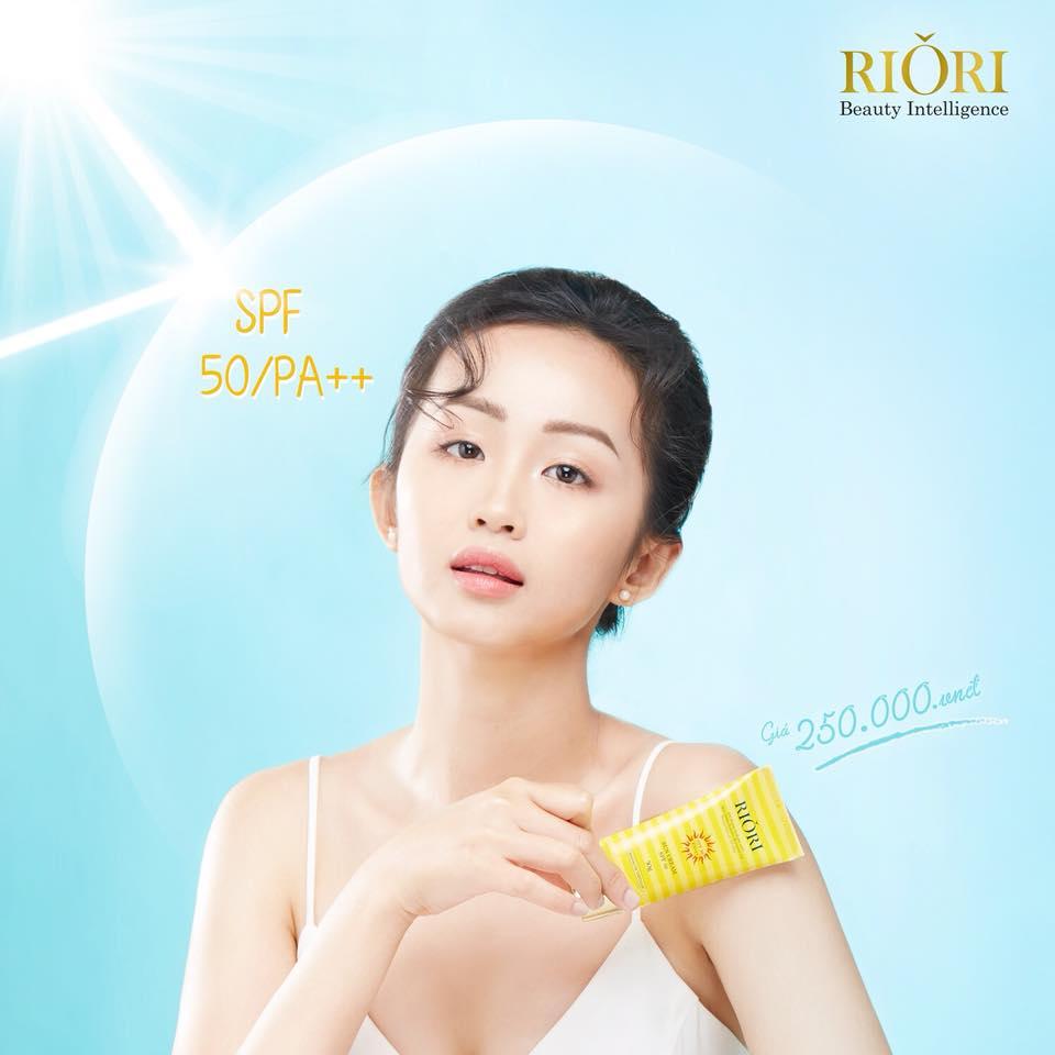 Kem chống nắng Riori Sun Cream SPF 50 bảo vệ da hiệu quả suốt 12h
