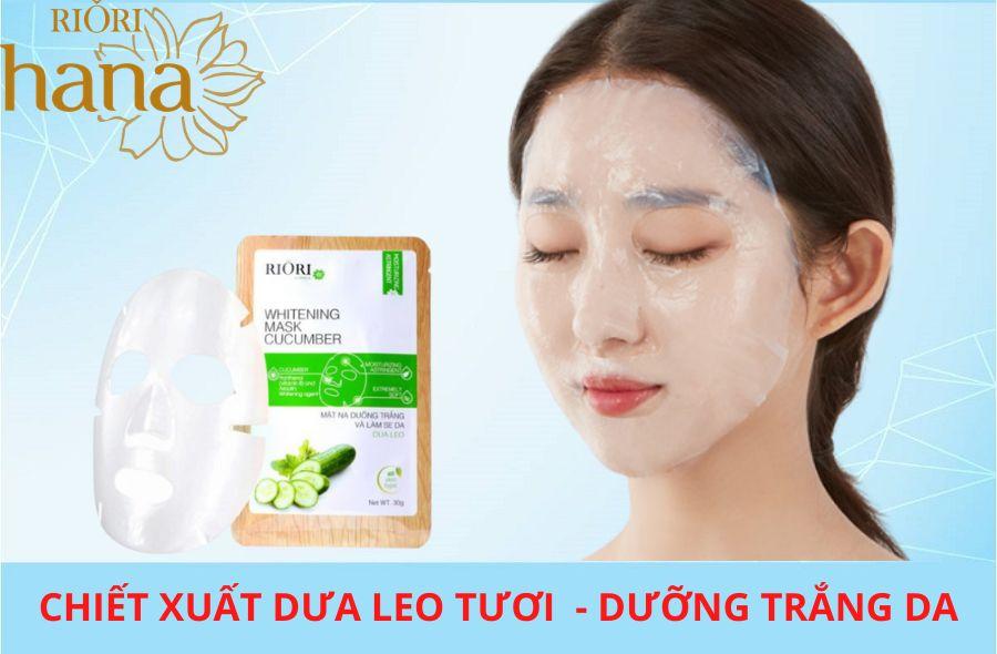Mặt nạ dưa leo Riori Mask Cucumber bí quyết dưỡng trắng da hiệu quả