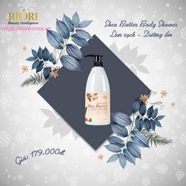 Sữa tắm bơ Riori Nourishing Shea Butter Body Shower