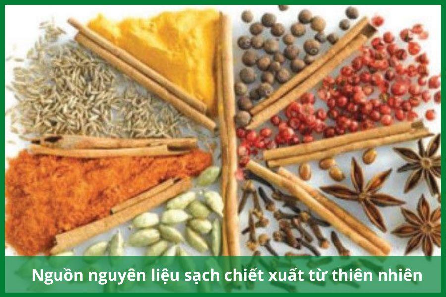 Nguồn nguyên liệu sản xuất Riori được chiết xuất từ thảo dược thiên nhiên
