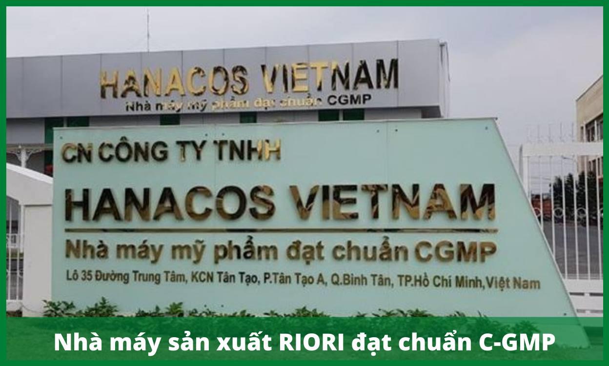 Nhà máy sản xuất Mỹ phẩm RIORI đạt tiêu chuẩn sản xuất thuốc C-GMP