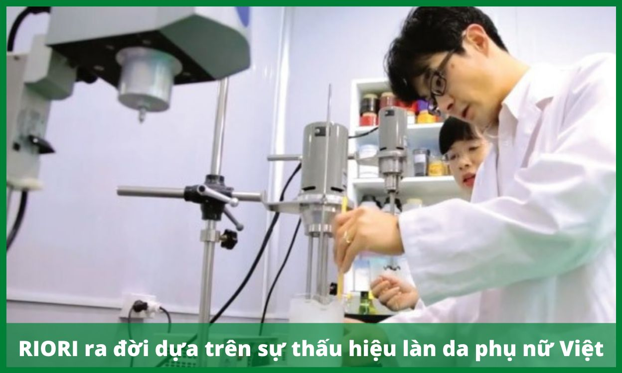 RIORI ra đời dựa trên sự thấu hiểu làn da phụ nữ Việt