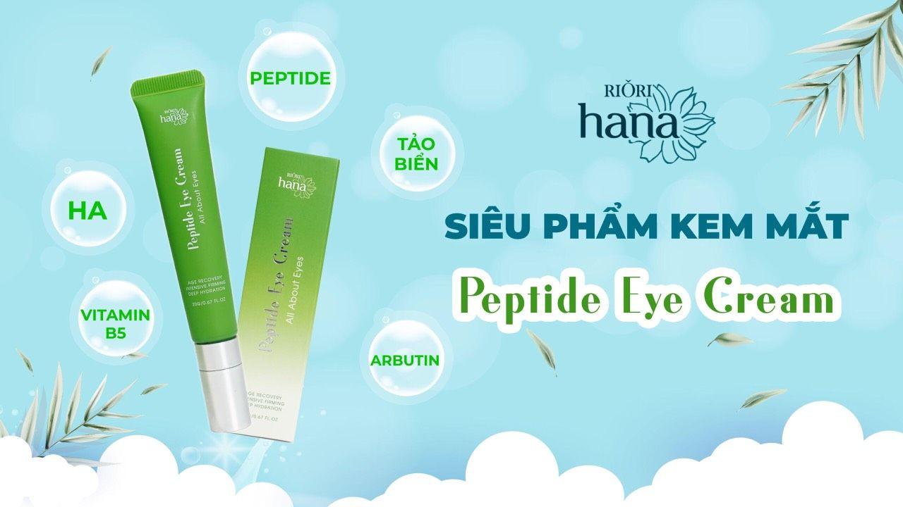 Thành phần chính của sản phẩm trị quầng thâm mắt riori peptide eye cream được chiết xuất từ thiên nhiên