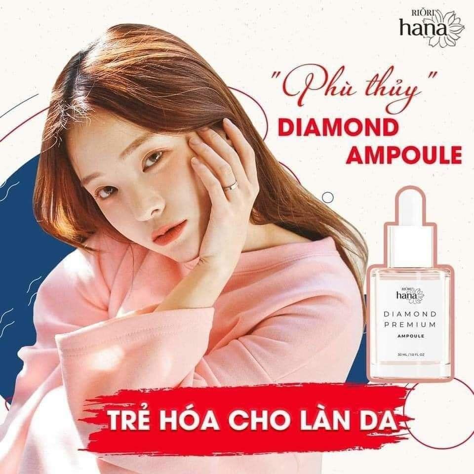 Tinh chấtdưỡng da RioriDiamond Premium Ampoule dưỡng trắng da ngừa lão hóa