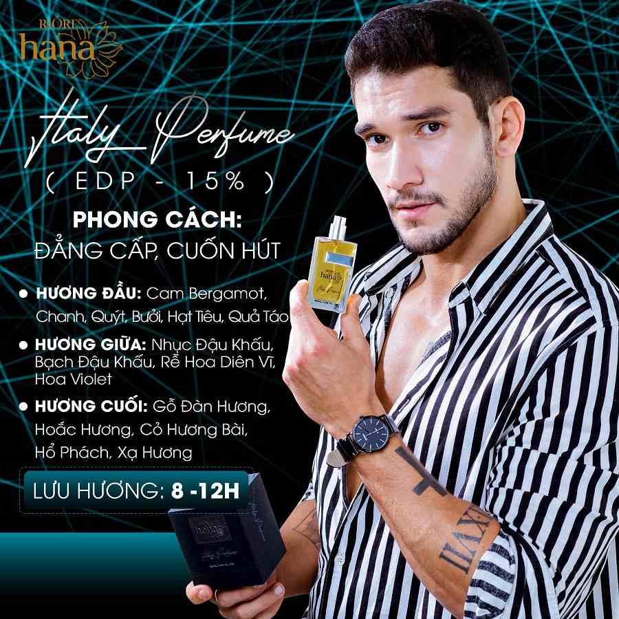 Nước hoa nam Riori Italy Perfume phong độ đàn ông mạnh mẽ lịch lãn