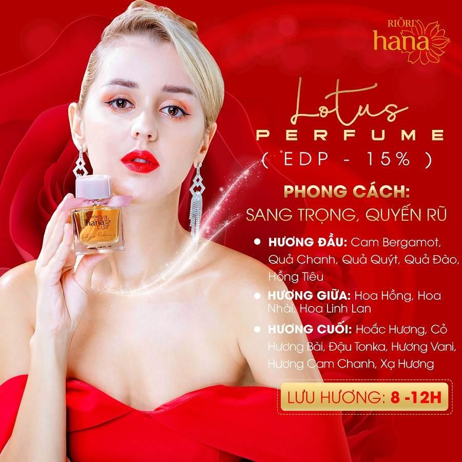Nước hoa nữ Riori Lotus Perfume gởi cảm sang trọng đầy quyến rũ