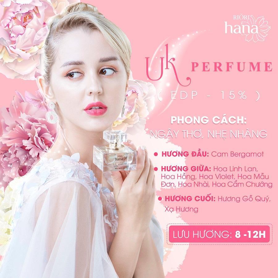 Nước hoa Riori UK PERFUME cho nữ thơm lâu 8 đến 12 giờ hương bay xa đến 2 mét