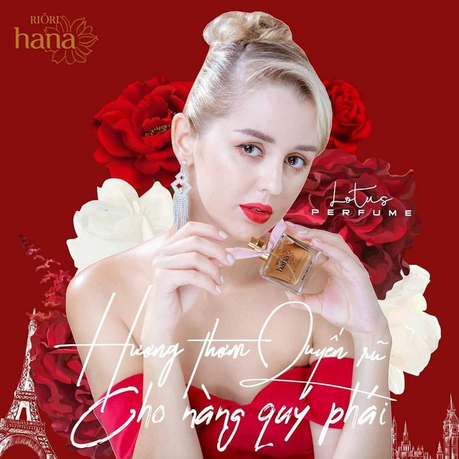 Nước hoa nữ Riori Lotus Perfume hương thơm quyến rũ cho nàng quý phái